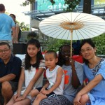 Kaiping (at right) and her family come from Nanjing City (close to Shanghai). Kaiping is a visiting scholar at U of T.